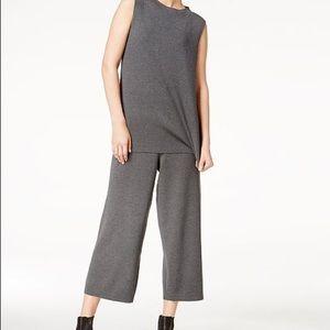 Eileen Fisher Mock Neck Wool Gray Tunic